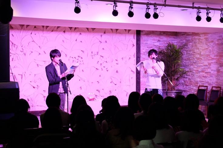 朗読劇後半の増田俊樹さん、田丸篤志さん