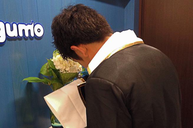おやすみセット香り袋の匂いを嗅いでみるKoyata