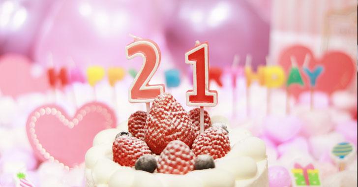 キャラクターの誕生日をお祝いするイメージ写真